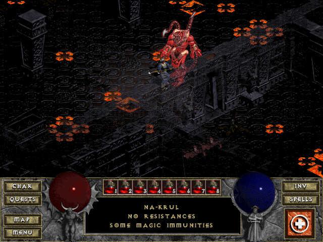 Na-Krul, le Boss de la Crypte en mauvaise posture.